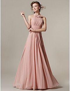 uma linha do assoalho-comprimento vestido de dama de honra c... – BRL R$ 307,77