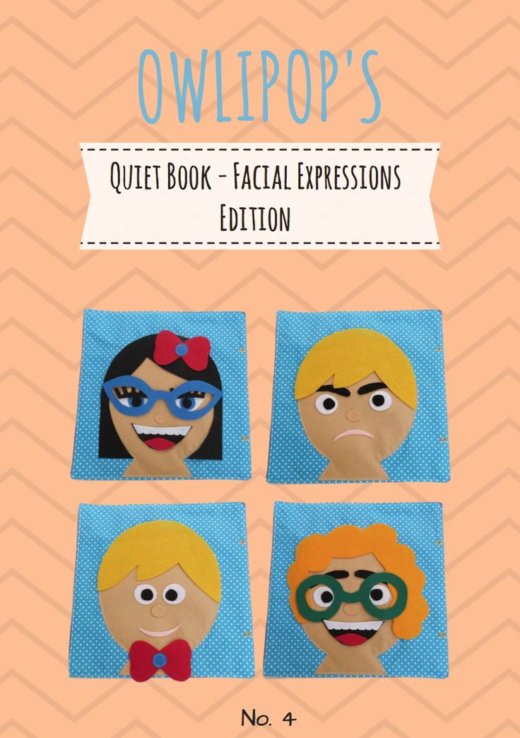 Quiet Book Pages - Create faces. Patterns & Tutorials. Quiet Book Pdf Tutorial, Busy Book Patters. Make your own quiet book. Pdf sewing tutorial quiet book facial expressions. Cute Quiet Book Pages. Patters for Quiet Book