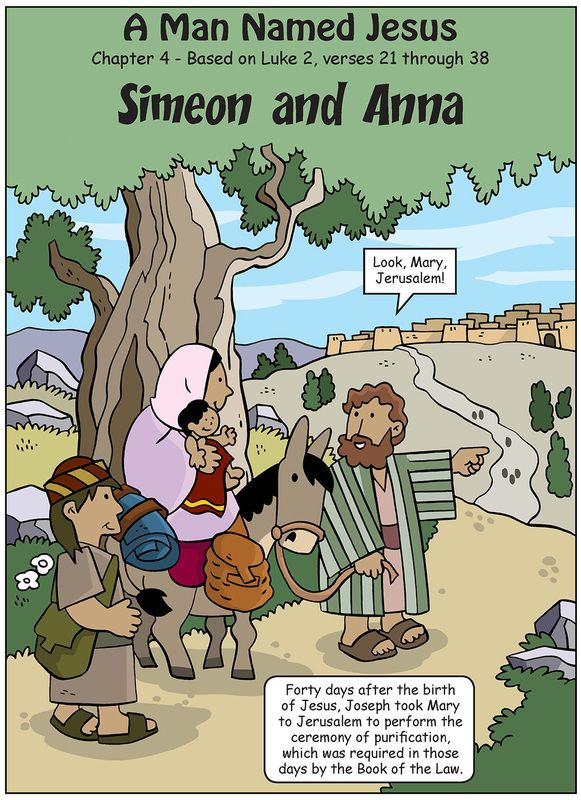 simeon and anna meet jesus cartoon easter