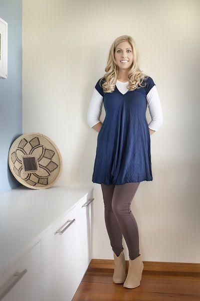 Gorgeous merino wool navy tunic, keep warm in something other than basic black!
