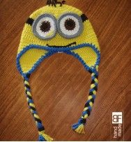 Handmade crochet minnions hat