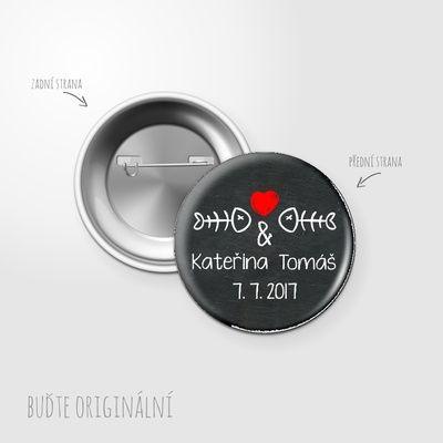 Svatební placka, button - 58