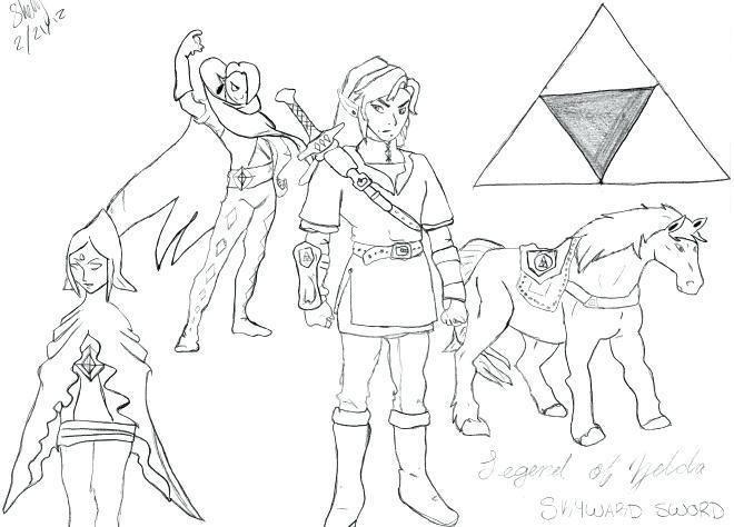 Coloriage Zelda Breath Of The Wild Breath Of The Wild Zelda Breath Wild