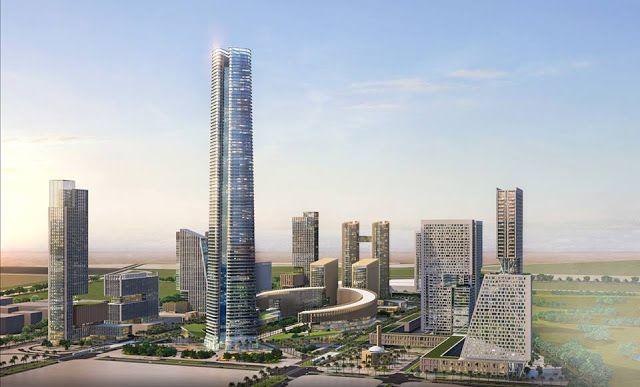 اقتصاد عالمى Global Economy Economie Mondiale لافارچ المورد الوحيد لأسمنت أساسات أطول برج بأف Egypt Tower Building