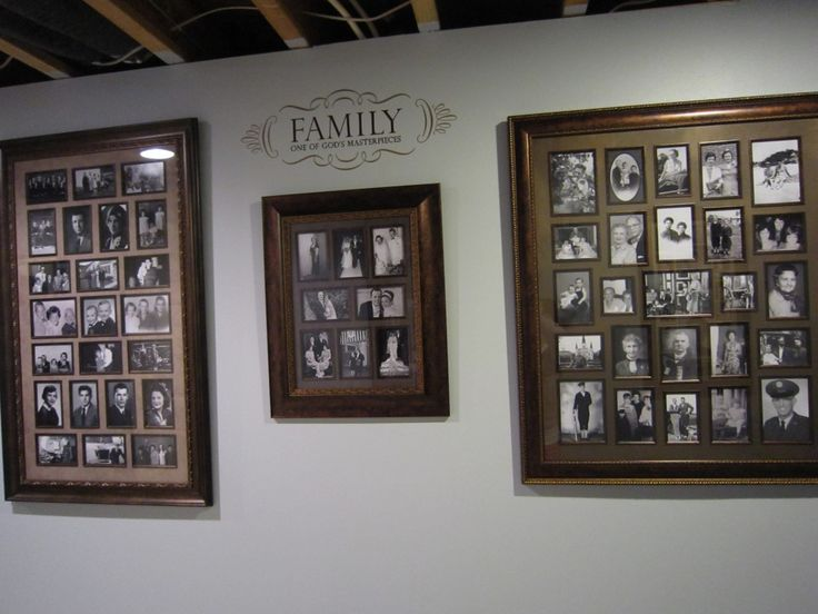 """""""Heritage wall""""--old family pictures framed (grandparents as kids, etc). what a sweet idea."""