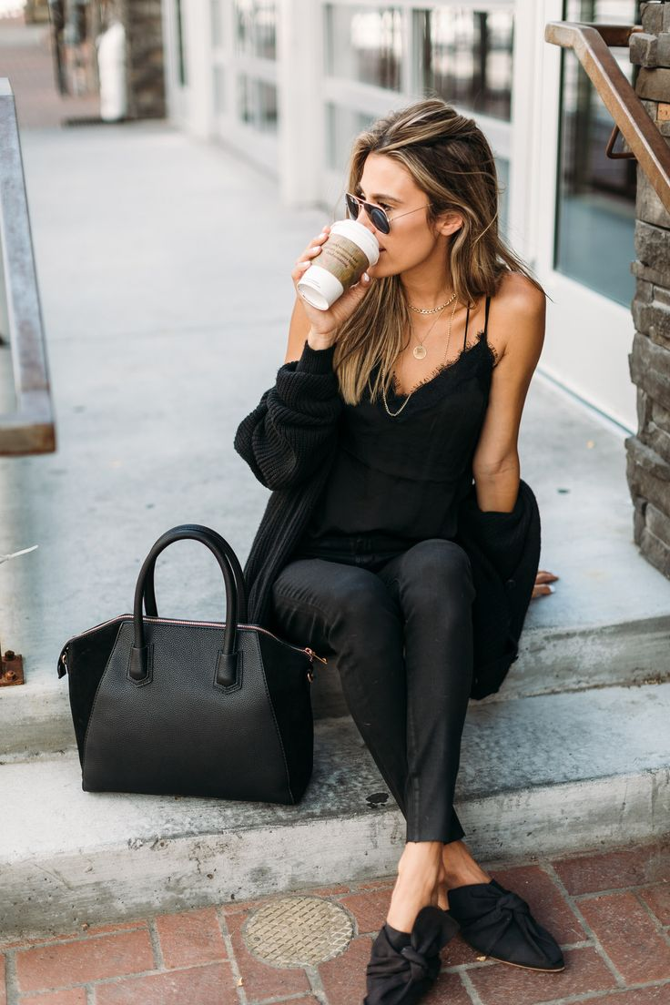 Black on Black for an easy fall look