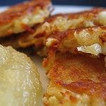 Latkes are pancakes made from potatoes and originate within the Jewish culinary tradition.Having married into a Jewish family, I have become acquainted with as many latke recipes as I have in-laws but the recipe to follow is the one I go to when it's my turn to make these delicious and comforting potato pancakes.Traditionally eaten throughout the fest