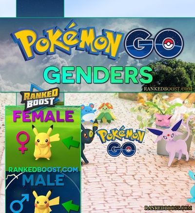 Pokemon GO Genders Chart | Chance Rate To Find Male and Female Pokemon In Pokemon GO For Both Gen 1 & Gen 2. Genders Explained.
