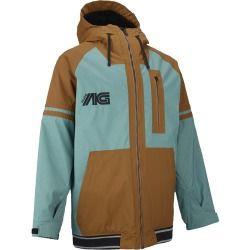 Analog Greed Jacket - Men's Atlantic Blue/Leather Brown, M