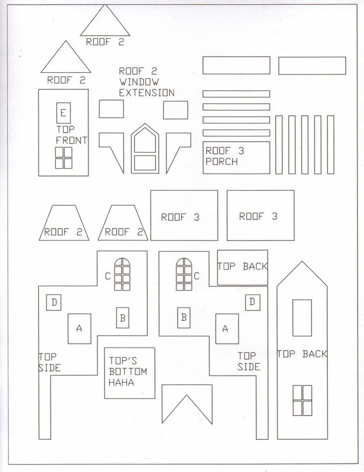 gingerbread house templates - Cerca con Google harry potter :the weasley's burrow