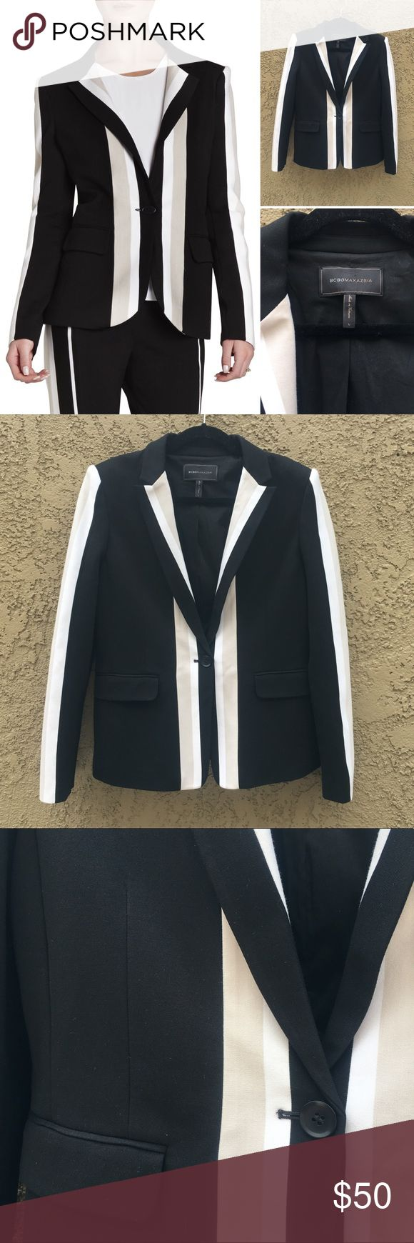 BCBCMaxazria blazer BCBG MaxAzria Aiden jacket. Contrast detail. Size Large. In excellent condition! Offers welcomed!! BCBGMaxAzria Jackets & Coats Blazers