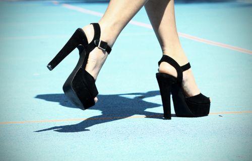Amg those heels.