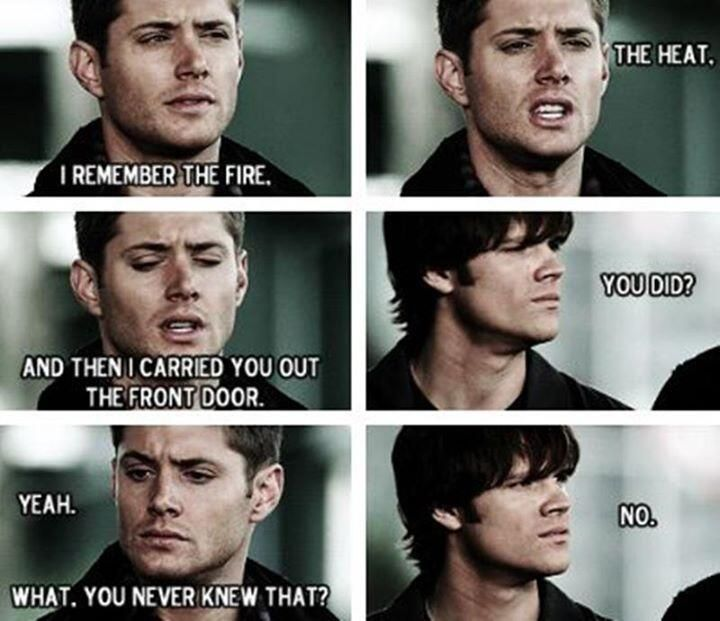 "1x09 ""Home"" - Sammy is still trying to grasp just how much Dean gave up his life, figuratively and literally, for him."