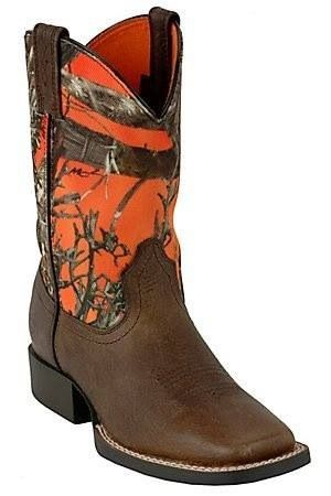 Orange Camo Boots - If only the top was taller...