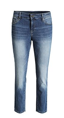 stretch jeans with a zipped coin pocket