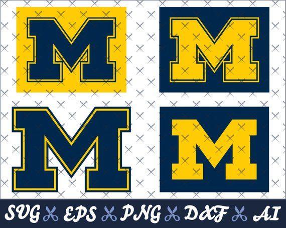 University Of Michigan Wolverines Logos Designs For Cricut Silhouette Cameo University Of Michigan Logo University Of Michigan Wolverines Michigan Go Blue