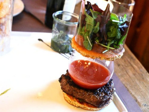A burger, deconstructed from Serious Eats