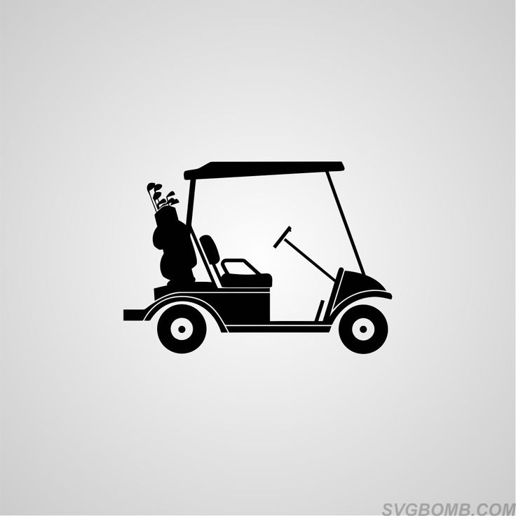 Download Golf Cart SVG image silhouette clip art, This file can be ...