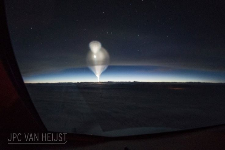 """Anti-ballistic Missile Test Over China: """"what Started Unexpectedly With An Unusual Bright Spot On The Horizon Quickly Changed Into A Droplet-shaped Bubble That Rapidly Grew In Size And Altitude,"""" Writes Photographer Christiaan Van Heijst. [1200 X 799] [os]"""