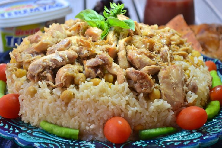 Tavuklu Buhara Pilavı       Malzemeler ( 6-9 kişilik):   · 3.5 yemek kaşığı (130 gr) Teremyağ   · 600 gr kemiksiz tavuk...