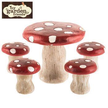 Mushroom Table U0026 Stools