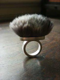 hello reclaimed fur ring. hello.