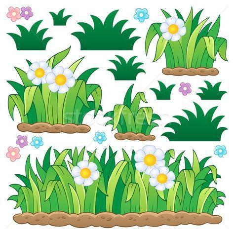 Stock fotó: Levelek · fű · vektor · tavasz · terv · művészet