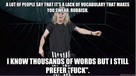 On cursing, via Billy Connolly