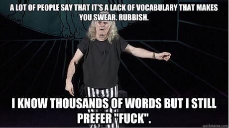 On cursing, via Billy Connolly