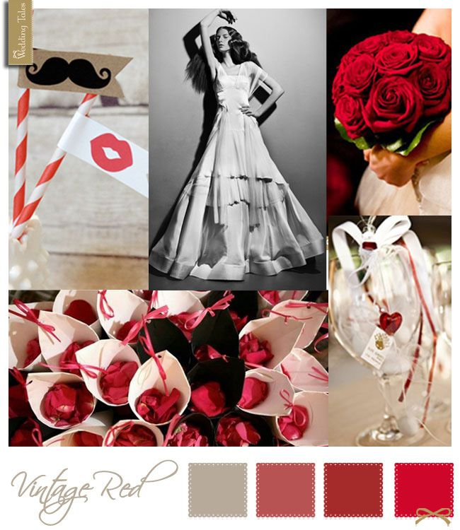 Wedding Moodboard   Vintage Red