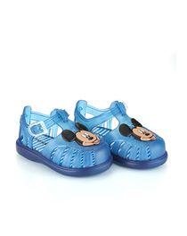 Sandaletto mare gomma azzurro per bimbo con stampa di Topolino