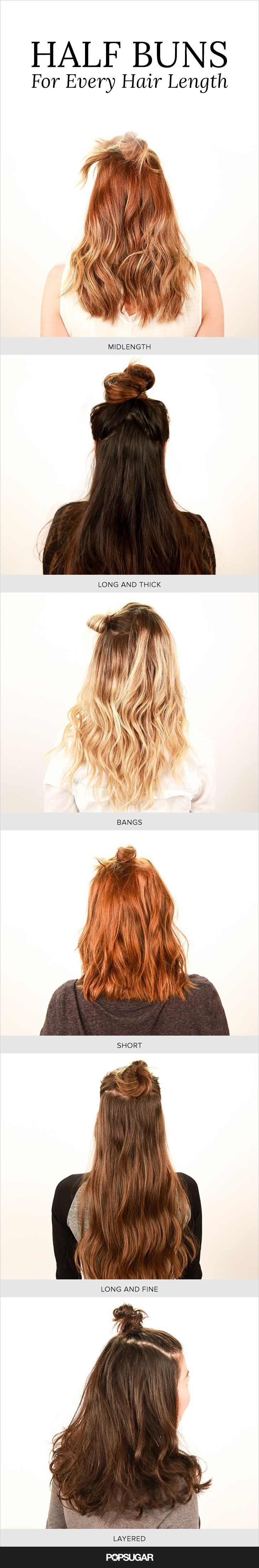 Master this season's hottest hair trend: the half bun! This half-up, half-down hairstyle works for nearly any occasion.