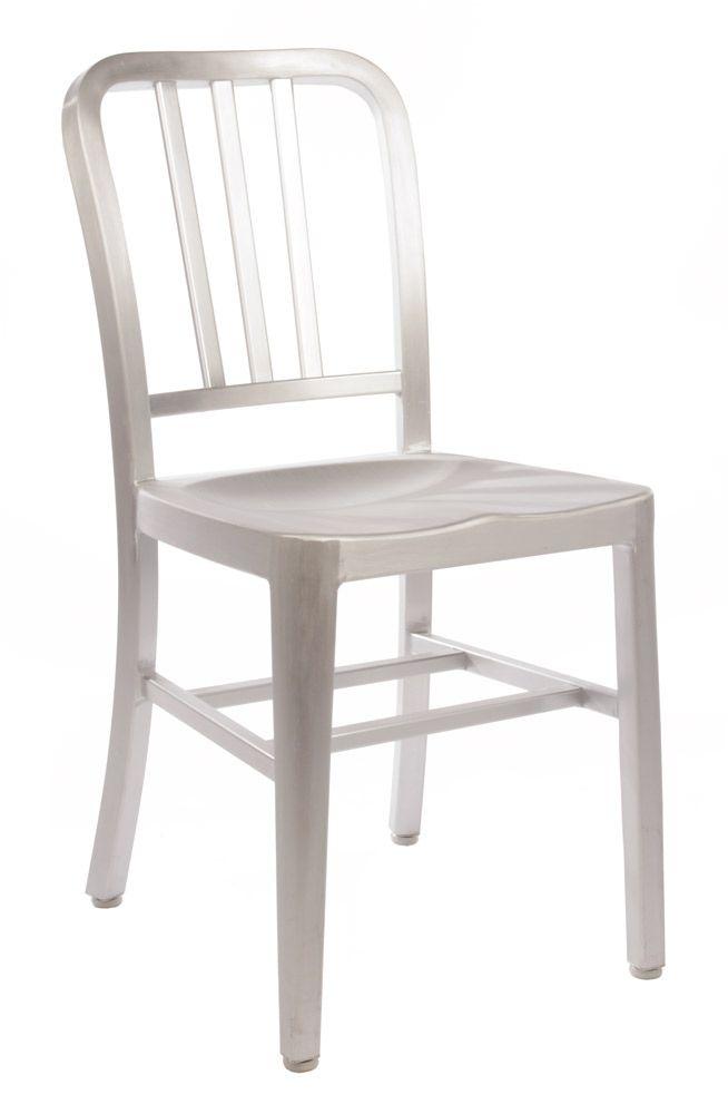Replica Emeco US Navy Chair - Aluminium by Philippe Starck - Matt Blatt