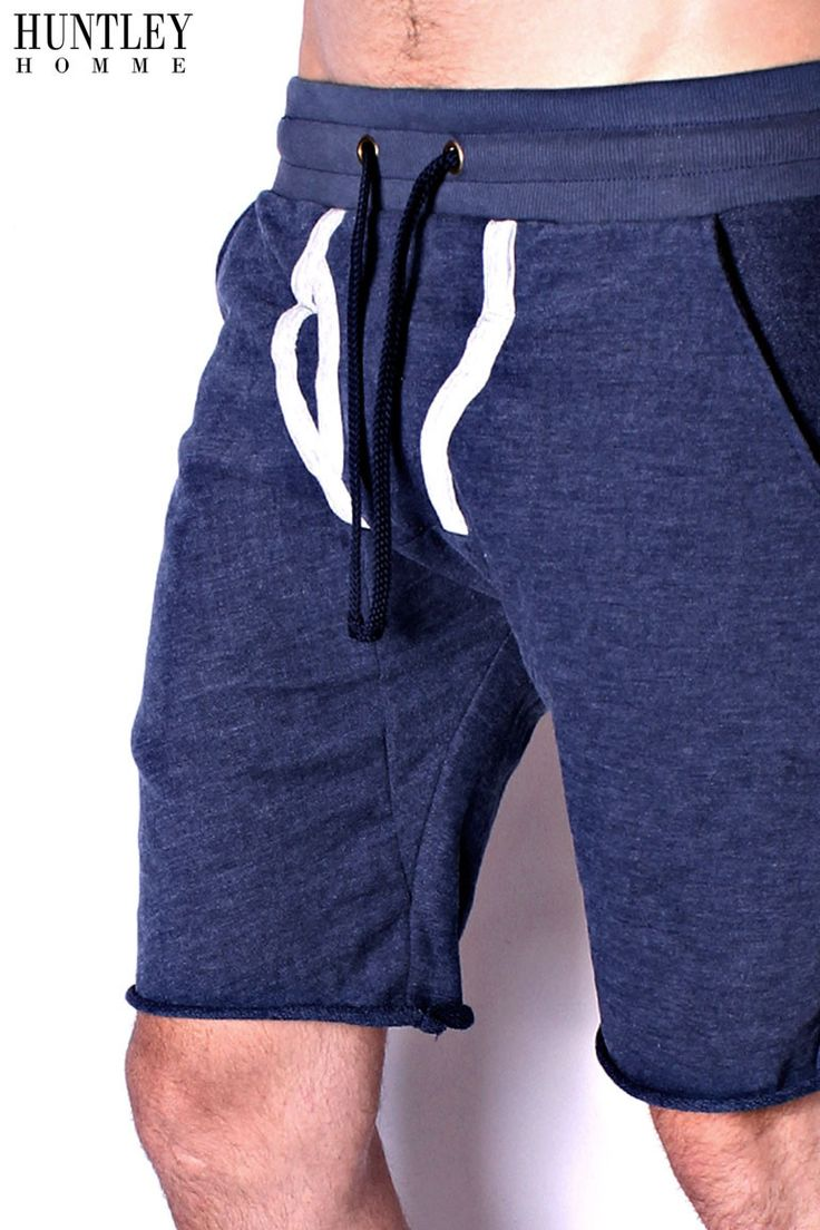 Blue Y-Front Sweat Shorts