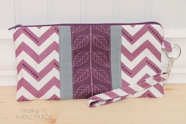 The Cake Clutch-- Free zippered wristlet sewing tutorial by Make It Handmade.