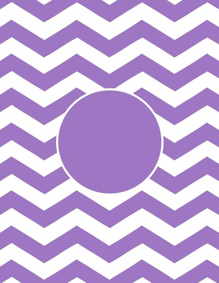 Chevron Printable Monogram - Purple great for bottle cap jewelry, glass tile jewelry & fridge magnets too! #ecrafty