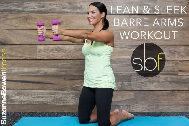 Barre arm workout.