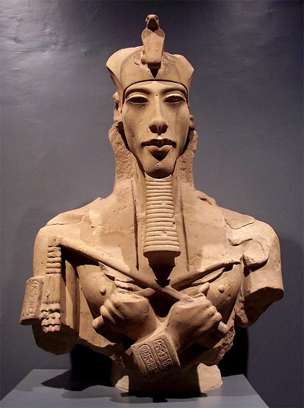 "Akhenaton - meaning ""living spirit of Aten"" known before the fifth year of his reign as Amenhotep IV was a Pharaoh (King) of the Eighteenth dynasty of Egypt who ruled for 17 years. His queen was Nefertiti. Akhenaton died perhaps in 1336 BC or 1334 BC."