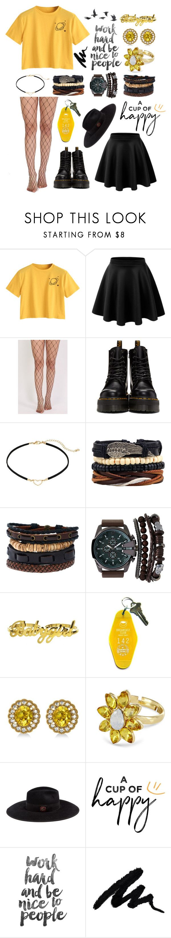"""행복 // Happiness"" by twenty-one-kitchen-sinks ❤ liked on Polyvore featuring LE3NO, Pilot, Dr. Martens, LC Lauren Conrad, A.X.N.Y., Three Potato Four, Allurez, Johnny Loves Rosie, Gucci and Jayson Home"