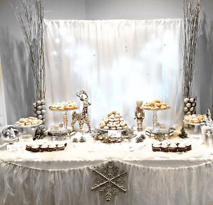 Winter Themed Christmas Decorations: Winter Wonderland Dessert Table, Winter Wonderland, White