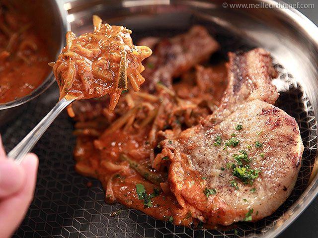 Côte de porc charcutière - Meilleur du Chef