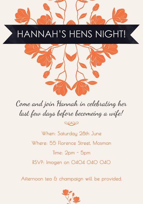 36 best Hen Night Bridal Shower Ideas images – Hens Party Invitations Australia