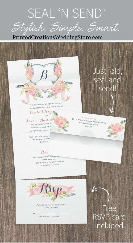 Seal And Send Wedding Invitations.Seal N Send Wedding Invitations With Designs To Fit All