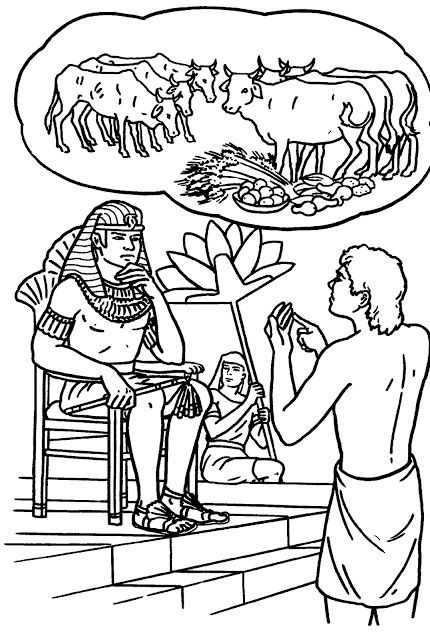 jozef bij de farao kleurplaat bijbel kleurplaten
