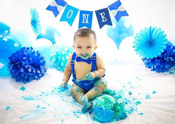 Remarkable Boy Cake Smash Outfit Blue Boy Cake Smash Boy 1St Birthday Set Personalised Birthday Cards Petedlily Jamesorg