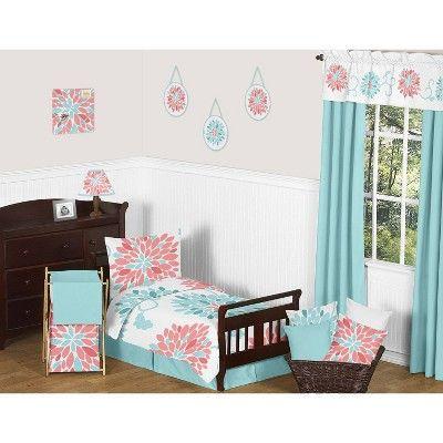 Turquoise Bed Skirt Sweet Jojo Designs Blue Toddler Bed