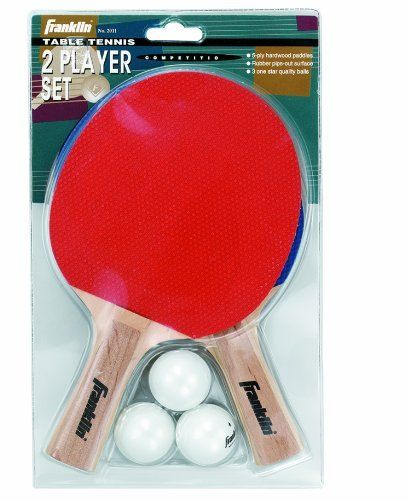 Franklin Sports 2-Player Varsity Set by Franklin. Save 1 Off!. $11.85. Our Franklin Sports 2 Player Varsity Table Tennis Set includes 2, 5-ply paddles with walnut finish handles, 3 table tennis balls. Great for a game of 1 on 1 table tennis.