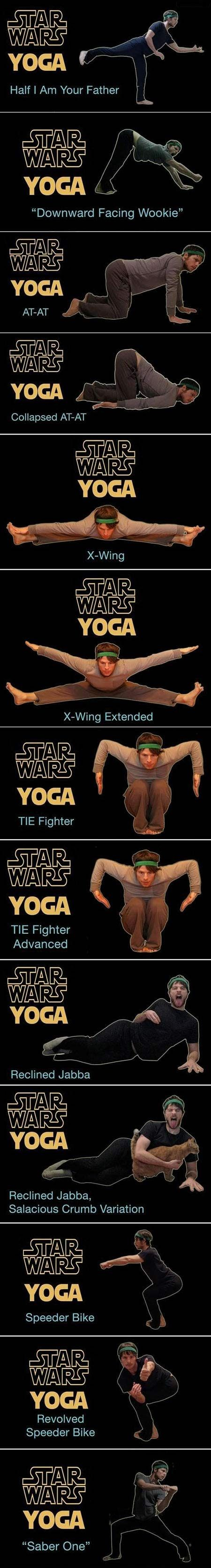 Star Wars Yoga. I don't do yoga, but this is hilarious!