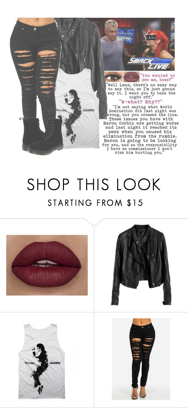 """""""Part One: Shane McMahon Expresses Concerns For Lena & Orders Her To Take The Night Off"""" by basket-case47 ❤ liked on Polyvore featuring Diane Von Furstenberg, Dr. Martens and WWE"""