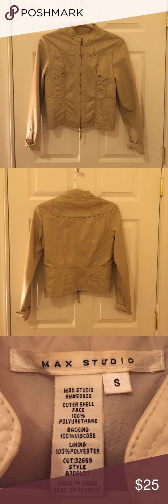 Tan leather jacket Max Studio tan faux leather jacket Max Studio Jackets & Coats